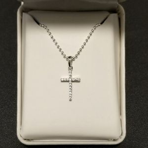 💓 Solid Real 925 Sterling Silver Cross Necklace